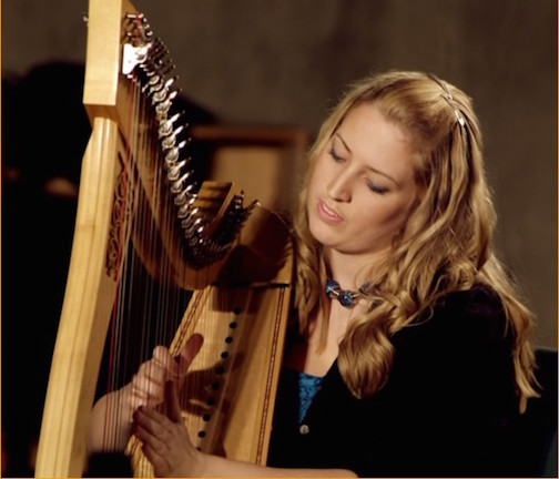 Award-winning Scottish harpist Ailie Robertson will perform at the French River Church on Tuesday.