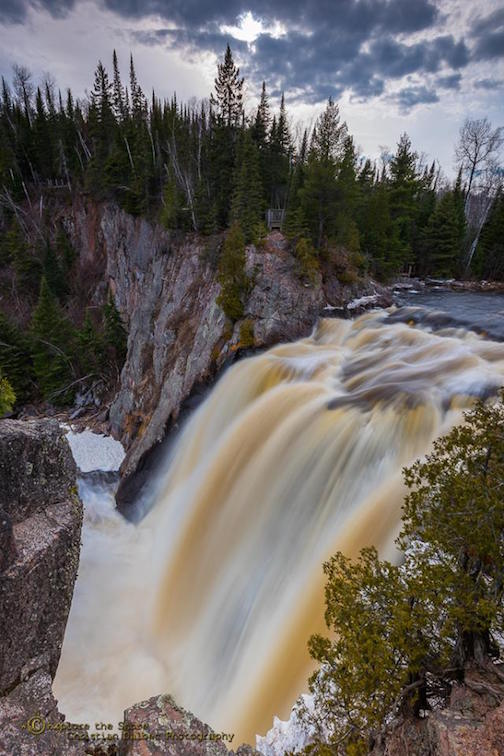 Christian Dalbec: High Falls at Tettegouche.