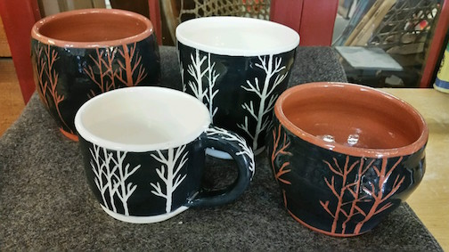 Peggy Little ceramics at Joy and Company,