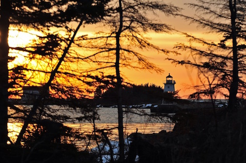 Sunset in Grand Marais by Kathy Gray-Anderson.