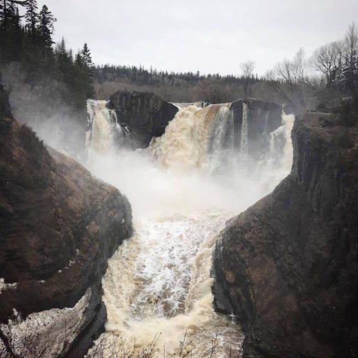 Kristofer Bowman: High Falls at Grand Portage State Park.