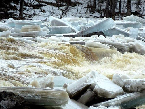 Ice break-up at Jay Cooke State Park by Michele Munson.