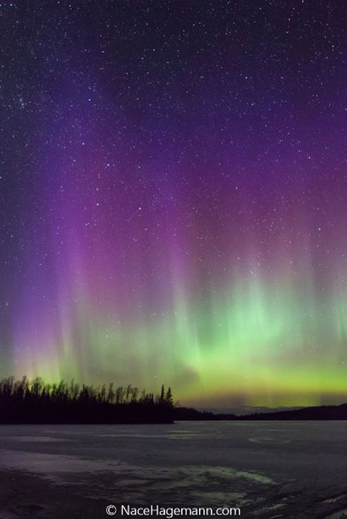 Northern lights by Nace Hagemann.