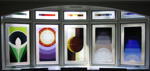 Steve and Sharon Frykman will open a gallery this fall. Pictured above is a fused glass project by the artists.