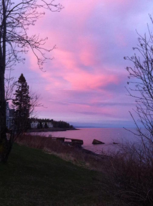 """""""Glad to be back in Tofte"""" by Alan Netland."""