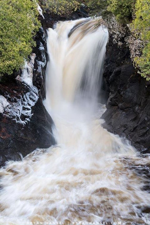 Falls at Cascade River State Park by Bryan Hansel.