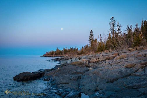 Christian Dalbec took this gorgeous photo of the Lake Superior shoreline the other day.