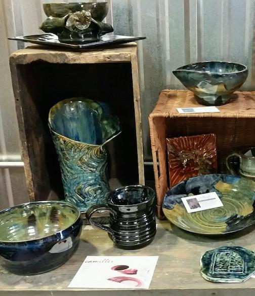 Carol Miller has new pottery at Joy & Co.