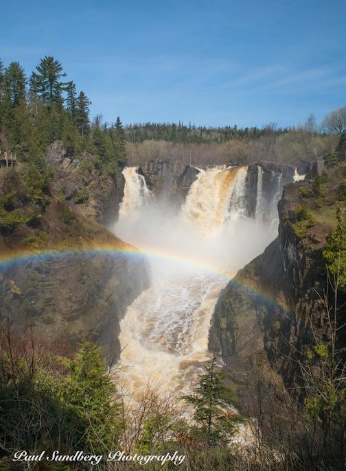 High Falls, Grand Portage by Paul Sundberg.