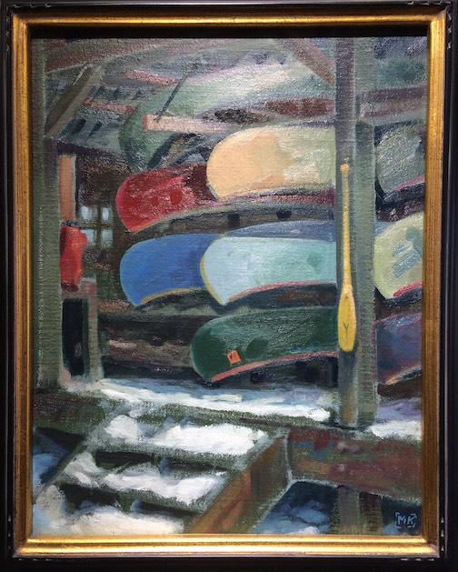 Matt Kania's painting is at Ron's World Rocks.
