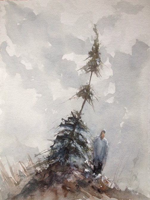 Watercolor by Tim Pearson.