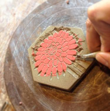 Melissa Wickwire will give tile-making demos on Saturday at Betsy Bowen Galleries & Studio.