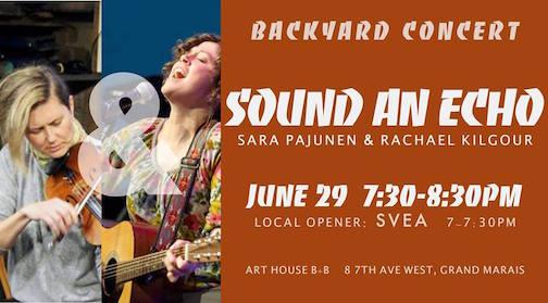 art house backyard concert