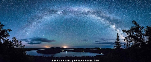 """The Milky Way Over Caribou Lake"" by Bryan Hansel."