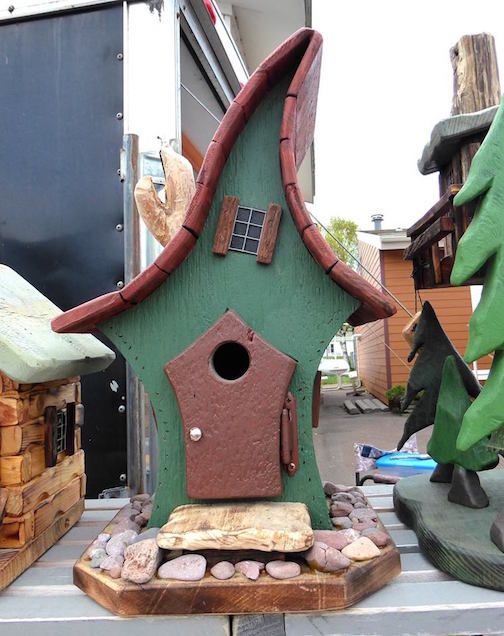 Woodworker Jeff Lillestrand has new birdhouses and other designs this year at the Cook County Market.