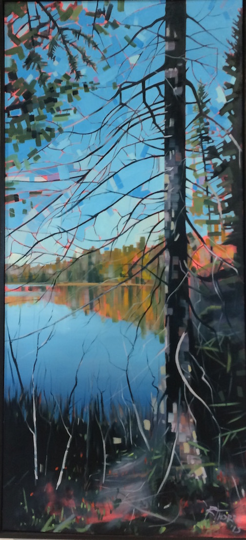 Otter Lake Series 3 by Reid Thorpe is on exhibit at the Johnson Heritage Post.