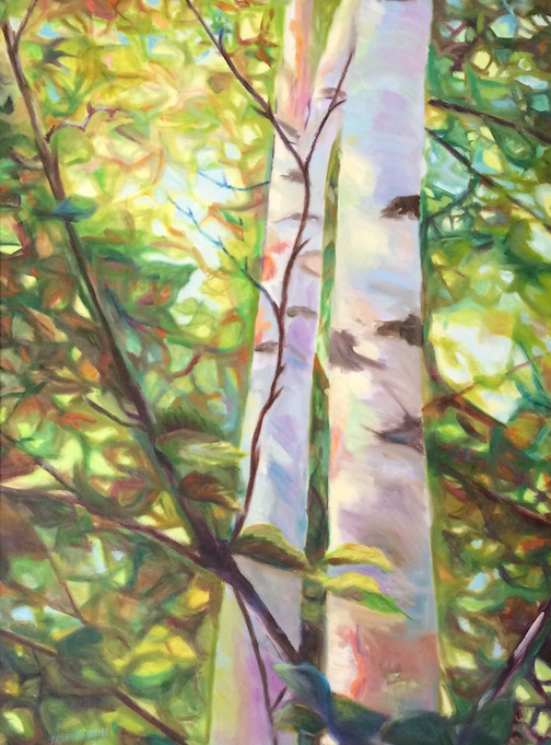 """Silver Birches"" by Misha Martin, is at Last Chance Gallery in Lutsen."