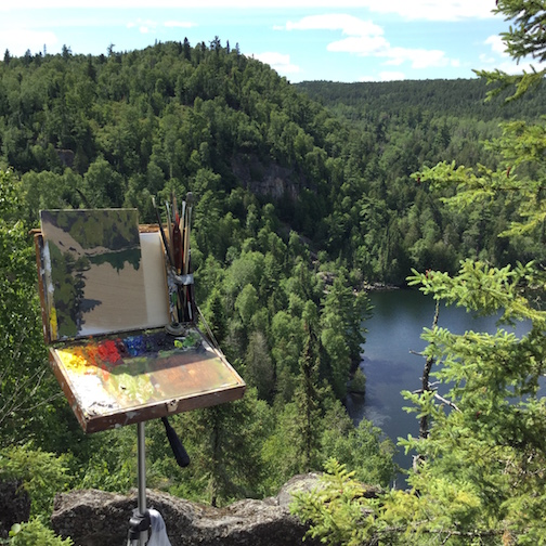Neil Sherman will lead a plein-air painting workshop in the Boundary Waters in July.