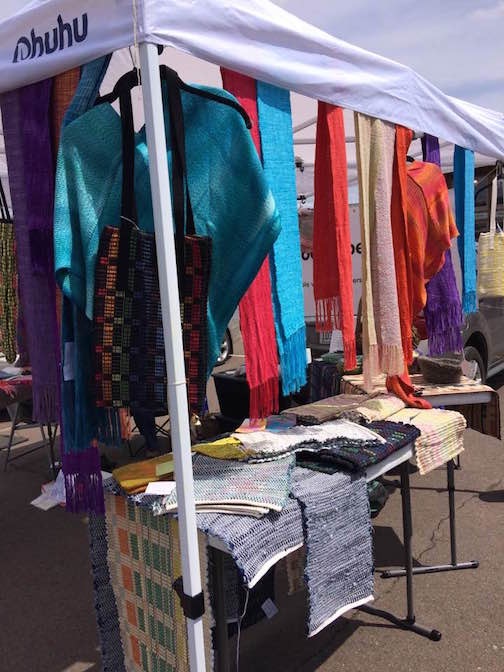 The Northwoods Fiber Guild has a booth at the Cook County Market this year.