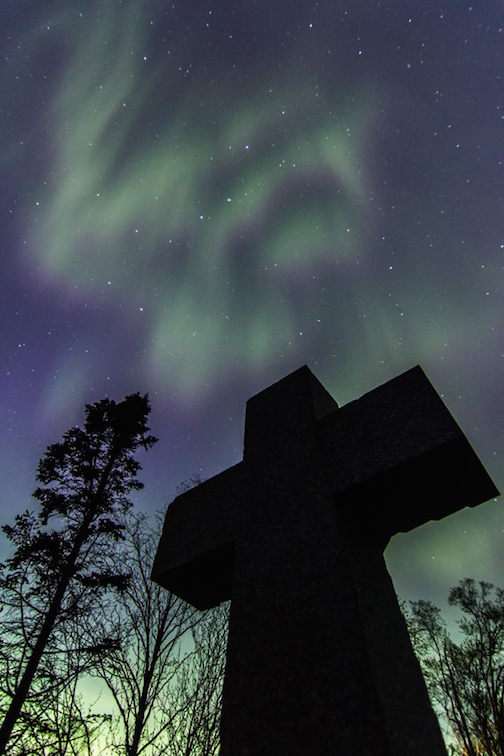 """Last Night at Father Baraga's Cross"" by Thomas Spence."