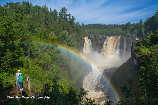 High Falls at Grand Portage by Paul Sundberg.