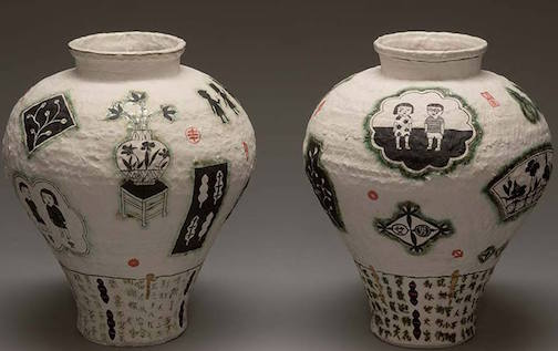 "Beth Lo's ""What We Pass On (Inheritance Jars) are in the ""Call +Response"" exhibit at the Tweed Museum of Art in Duluth."