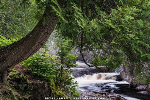 Quiet Little Scene on the Cascade River by Bryan Hansel.