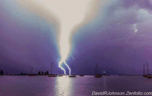 Lightening strike on July 6 by David Johnson.