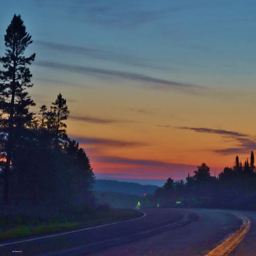 Dawn on Highway 61 by Jan Swart.