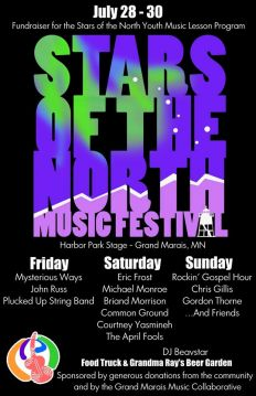 Stars of the North Music Festival starts on Friday at  5 p.m. in Bear Tree Park.
