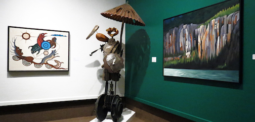 "One of the installations for the exhibit ""The Perspective From Here: 150 Artists From the North "" at the Thunder Bay Art Gallery. showing until September 25"