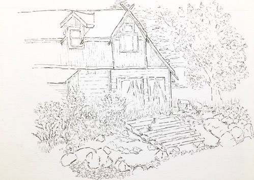 David Morris' sketch from last week's Arrowhead Sketchers session.