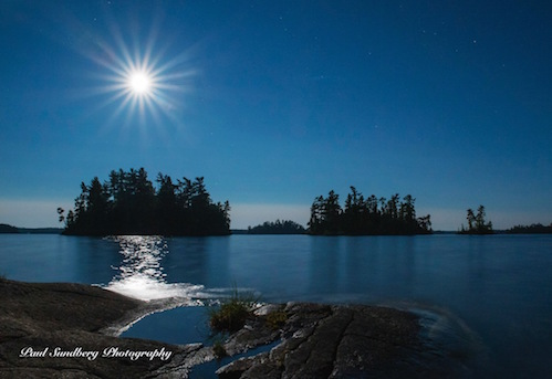 Moonset in the BWCA by Paul Sundberg.