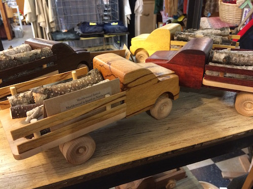 Big Mac's Trucks, crafted by Suzy and Greg McCarthy are at Joy and Company.
