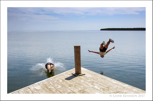 """Leaping Into a Superior Summer"" by Layne Kennedy."