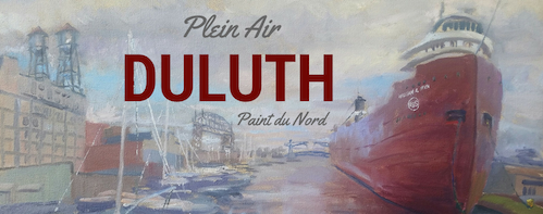 Works from the Duluth Art Institute's plein air competition are on view at