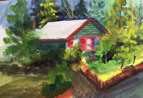 Kathy Weinberg did this watercolor study during an Arrowhead Sketchers session last week.