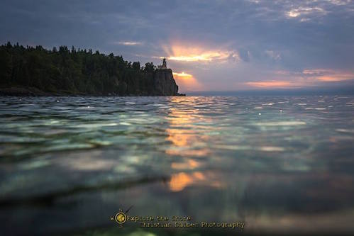 Sunrise Over Split Rock by Christian Dalbec.