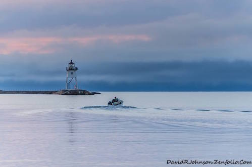 """Early Morning Fisherman,"" by David Johnson."