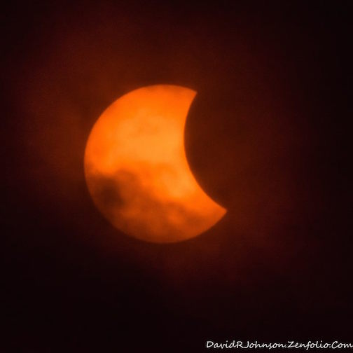 Eclipse from Grand Marais by David Johnson.