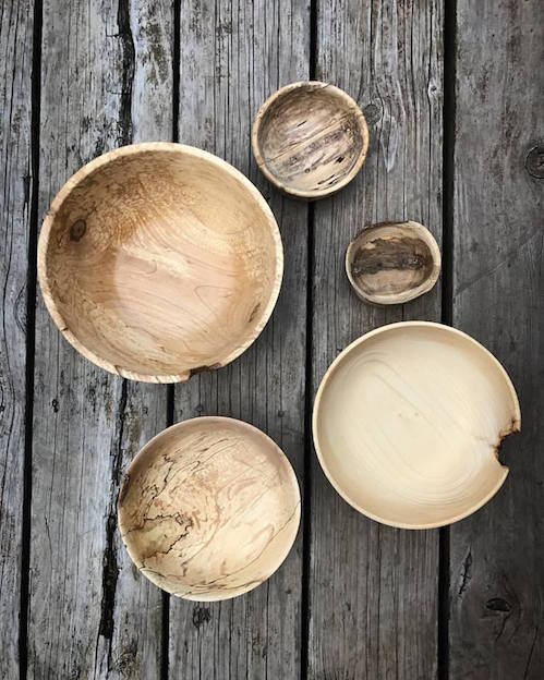 Howard Hedstrom has turned wood bowls at Kah-Nee-Tah Gallery in Lutsen.