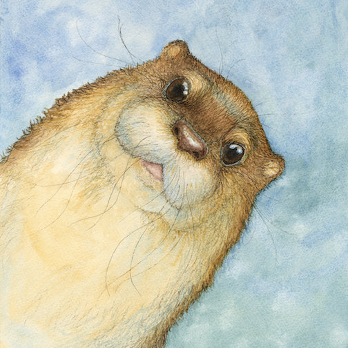 Kari Vick's Otter is one of her pieces on exhibit at the North Shore Winery this month.