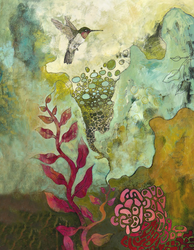 """Hummingbird 2"" by Raina Gentry is at Last Chance Gallery in Lutsen."