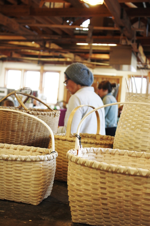 April Stone will give a basket wearing demonstration at North House Folk School from 10 a.m. to noon on Saturday.