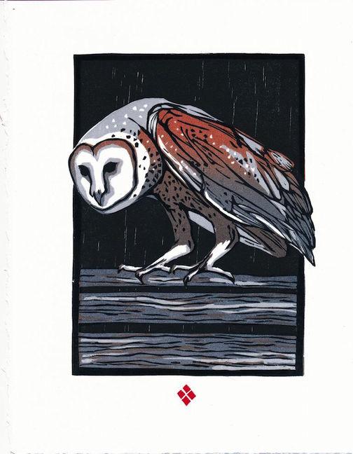 Woodblock print by Betsy Bowen.