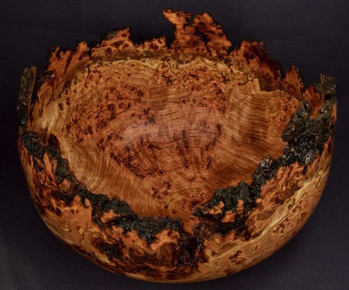Turned bowl by Lou Pignolet.