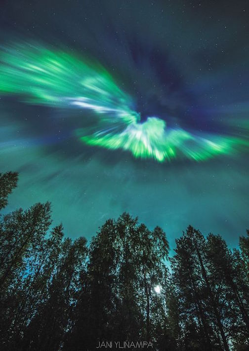 There were spectacular northern lights around the world last week. This one, taken by Jani Yiinampa-at-rovaniemi-lapland-finland was posted on spaceweather.com.