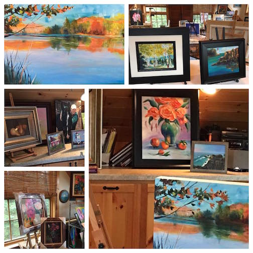 Paintr Kathy Fox Weinberg is one of the artist who will  open her studio for the Fall Studio Tour.