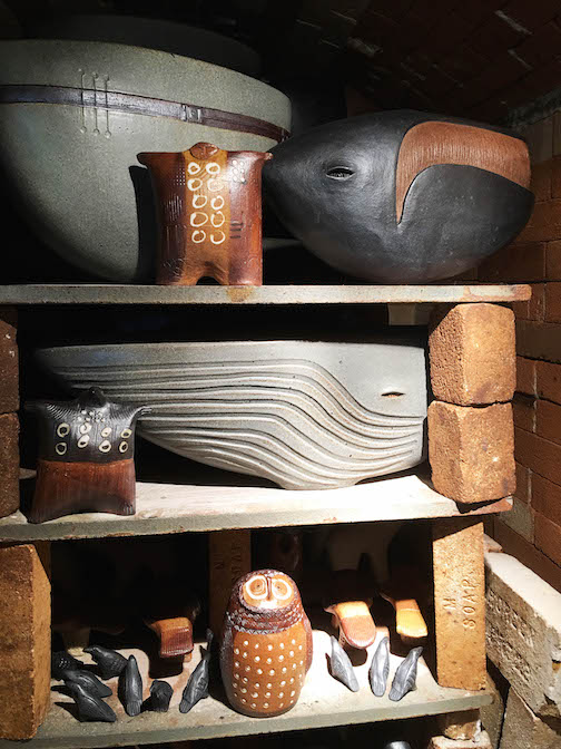 Dan and Lee Ross are ceramacists and printmakers. They will be on the Fall Studio Tour.