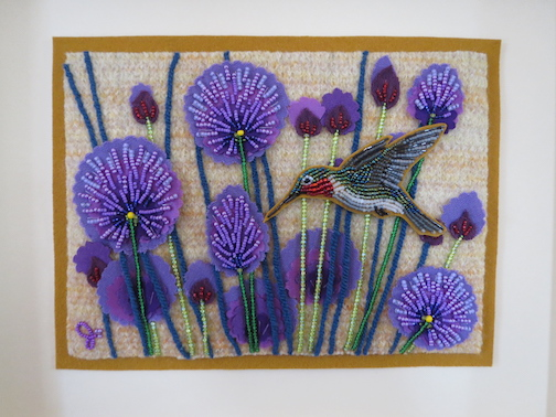 Jo Wood has new bead paintings at Last Chance Gallery.